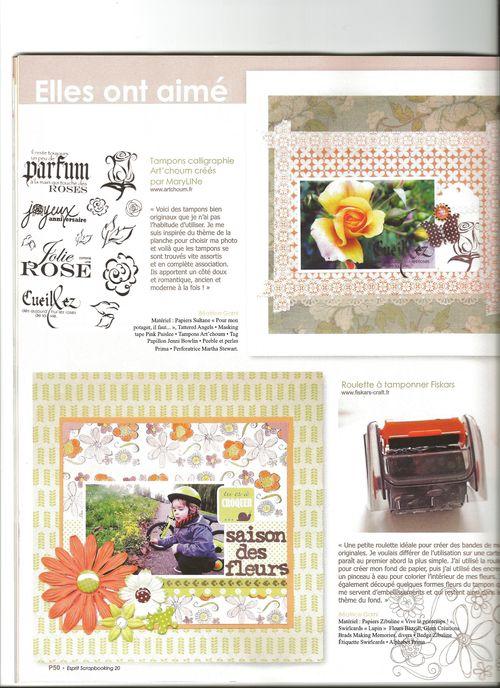 Esprit scrapbooking rose stamps p 50-1