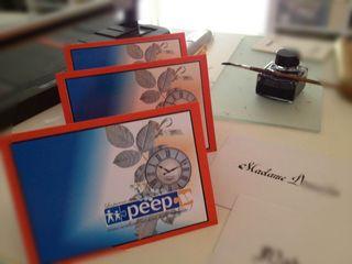 Carte retraite peep flou